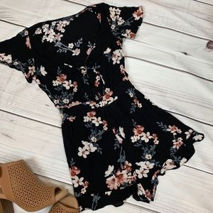 American Eagle Cut-Out Floral Romper - Size Small